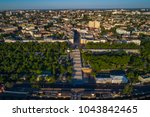 elevated drone image of the... | Shutterstock . vector #1043842465