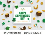 happy st.patrick's day... | Shutterstock .eps vector #1043843236