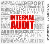 internal audit word cloud... | Shutterstock .eps vector #1043843728