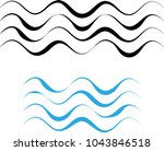 water wave icon  water wave... | Shutterstock .eps vector #1043846518