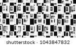 futuristic windows on modern... | Shutterstock . vector #1043847832