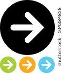 arrow   vector icon isolated | Shutterstock .eps vector #104384828