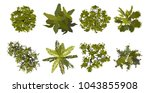 collection trees top view for... | Shutterstock .eps vector #1043855908