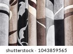 carpets variety selection... | Shutterstock . vector #1043859565