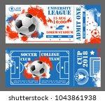 soccer world cup 2018 tickets... | Shutterstock .eps vector #1043861938