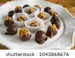 homemade healthy chocolate... | Shutterstock . vector #1043868676