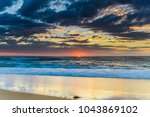seascape with clouds  ... | Shutterstock . vector #1043869102
