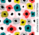 seamless pattern with creative...   Shutterstock .eps vector #1043870686
