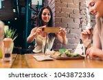 two girlfriends having healthy... | Shutterstock . vector #1043872336