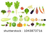 a set of icons of vegetables of ... | Shutterstock .eps vector #1043873716