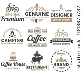 vintage retro vector logo for... | Shutterstock .eps vector #1043875732