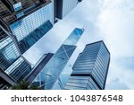bottom view of office building... | Shutterstock . vector #1043876548