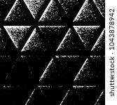 grunge halftone black and white ... | Shutterstock .eps vector #1043878942