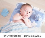 photo shoot of a baby in a... | Shutterstock . vector #1043881282