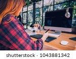 designer graphic drawing... | Shutterstock . vector #1043881342