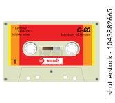 old school compact cassette... | Shutterstock .eps vector #1043882665