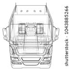 dump truck vector illustration. ... | Shutterstock .eps vector #1043885266