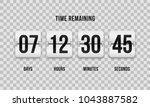 flip countdown clock counter... | Shutterstock .eps vector #1043887582