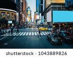 famous times square landmark in ... | Shutterstock . vector #1043889826