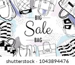 vector set of hand drawn... | Shutterstock .eps vector #1043894476