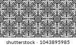 vector seamless pattern. black... | Shutterstock .eps vector #1043895985