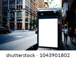bus station billboard with... | Shutterstock . vector #1043901802