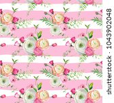 floral seamless pattern with... | Shutterstock .eps vector #1043902048