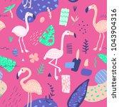 childish summer seamless... | Shutterstock .eps vector #1043904316