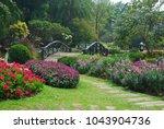 the bridge  nestled in... | Shutterstock . vector #1043904736