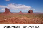 iconic view on monument valley... | Shutterstock . vector #1043906566