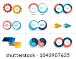 mega set of two elements  steps ... | Shutterstock .eps vector #1043907625