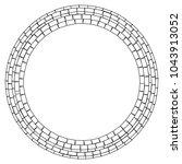 abstract circular stonework ... | Shutterstock .eps vector #1043913052