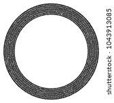 abstract circular stonework ... | Shutterstock .eps vector #1043913085