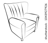 sofa furniture vector isolated... | Shutterstock .eps vector #1043927926