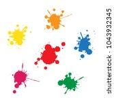 ink blobs concept | Shutterstock .eps vector #1043932345
