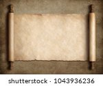 ancient scroll parchment over... | Shutterstock . vector #1043936236
