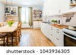fancy kitchen interior kitchen... | Shutterstock . vector #1043936305