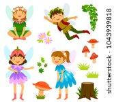 cute cartoon fairies of both...   Shutterstock . vector #1043939818
