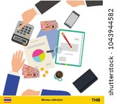 . financial planning with top... | Shutterstock .eps vector #1043944582