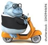 fun white gorilla   3d... | Shutterstock . vector #1043944696