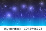 blue gradient circuit board... | Shutterstock .eps vector #1043946325