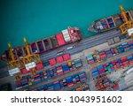 logistics and transportation of ... | Shutterstock . vector #1043951602
