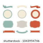 banner shape vector design.... | Shutterstock .eps vector #1043954746