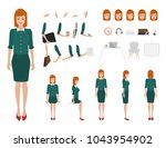 business woman character... | Shutterstock .eps vector #1043954902