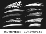 motorcycle tire tracks vector... | Shutterstock .eps vector #1043959858