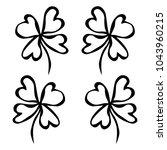 four leaf green clover. luck ... | Shutterstock .eps vector #1043960215