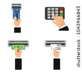 flat design of atm terminal... | Shutterstock .eps vector #1043966845