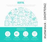 hospital concept in half circle ... | Shutterstock .eps vector #1043970562