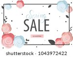 spring flower sale promotion... | Shutterstock .eps vector #1043972422