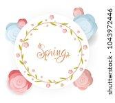 spring flower sale promotion...   Shutterstock .eps vector #1043972446